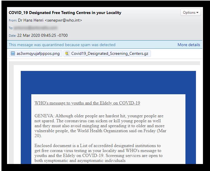 Free Testing Center Scam